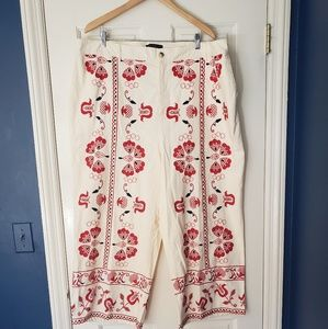 NWOT Eloquii Embroidered Pants